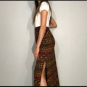 Handmade floral maxi skirt